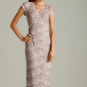 Nude lace/sequin cocktail dress